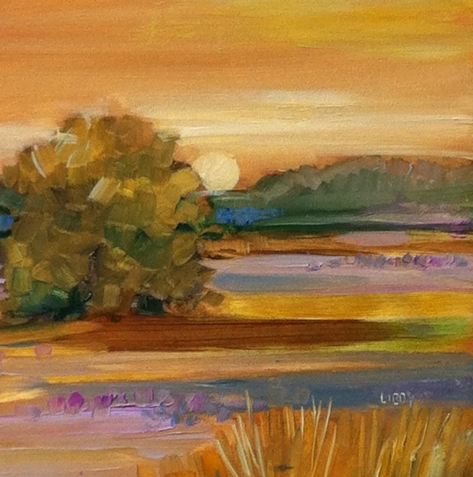 """Sunrise Landscape"" original fine art by Libby Anderson"