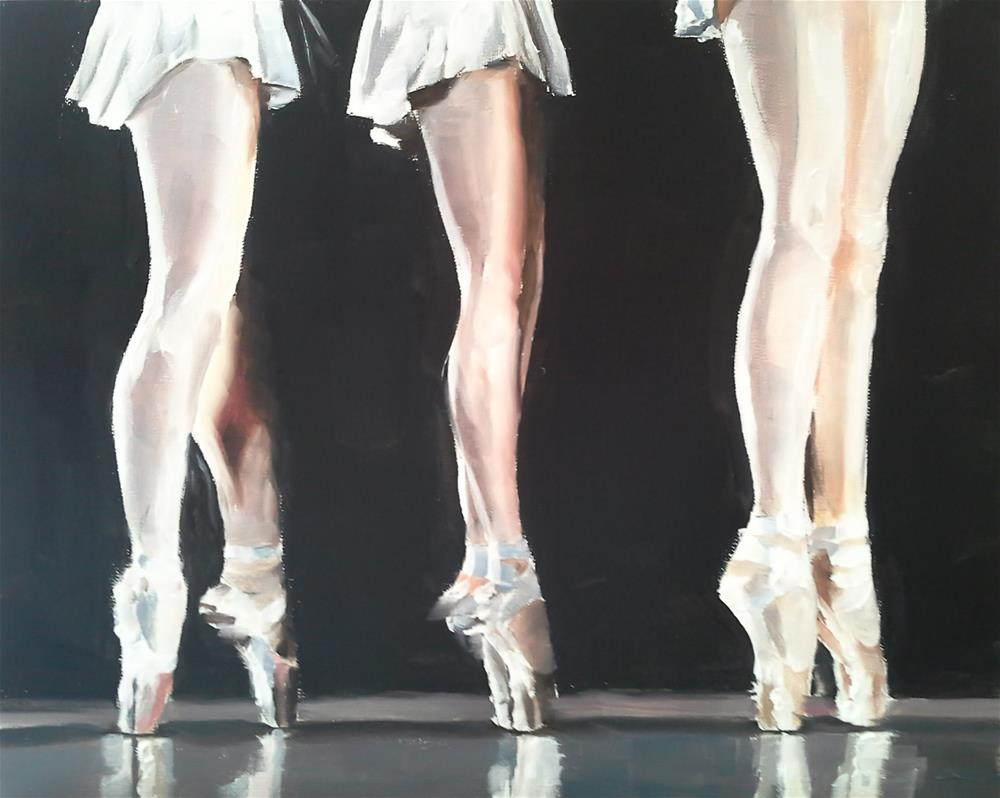 """Three Ballerinas"" original fine art by James Coates"
