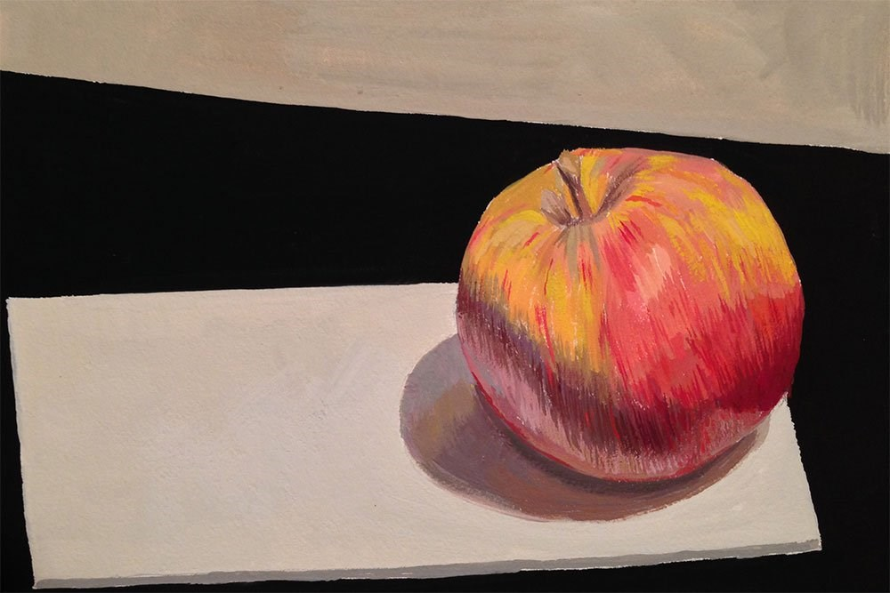"""Gouache Travel Test Painting"" original fine art by Chris Beaven"