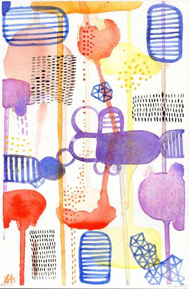"""""""All the Buzz"""" original fine art by Heather Bennett"""