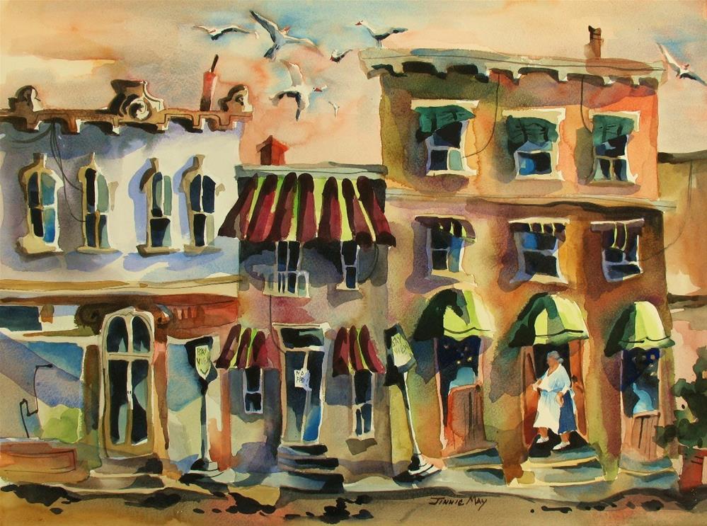 """Bay View Inn, Belfast, ME"" original fine art by Jinnie May"
