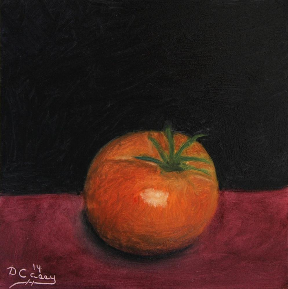 """Kitchen Painting - Tomato 001"" original fine art by Dave Casey"