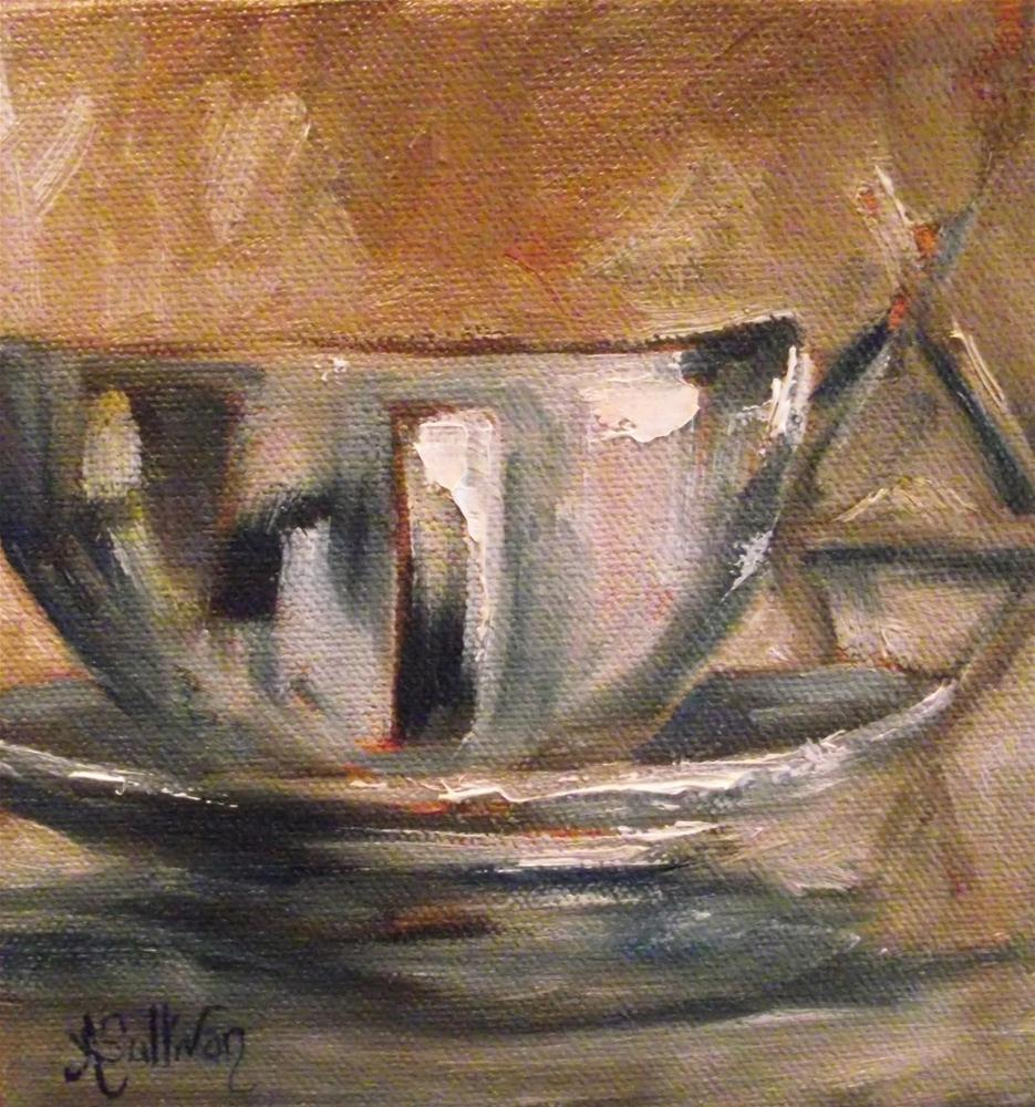 """Coffee My Best Friend"" original fine art by Angela Sullivan"