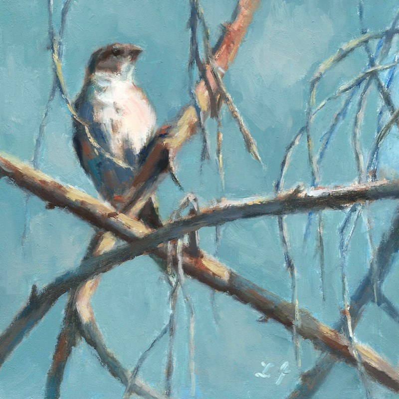 """Where Should I Build My Nest"" original fine art by Linda Jacobus"