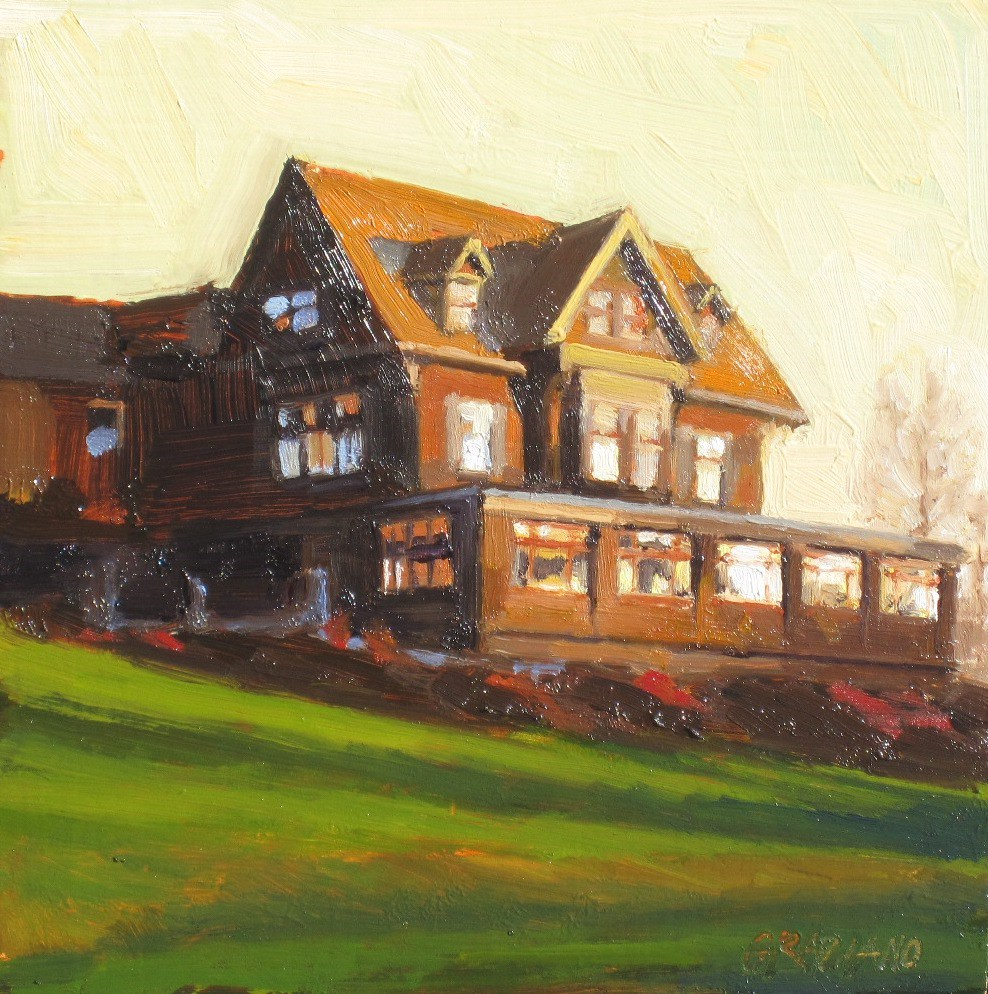 """The Manor"" original fine art by Dan Graziano"