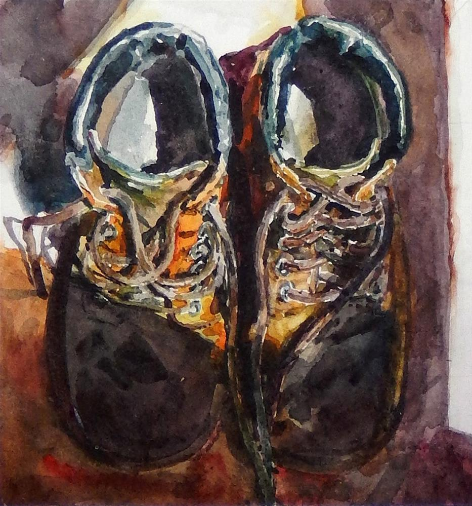 """Working Boots"" original fine art by Stephen Ravenscraft"