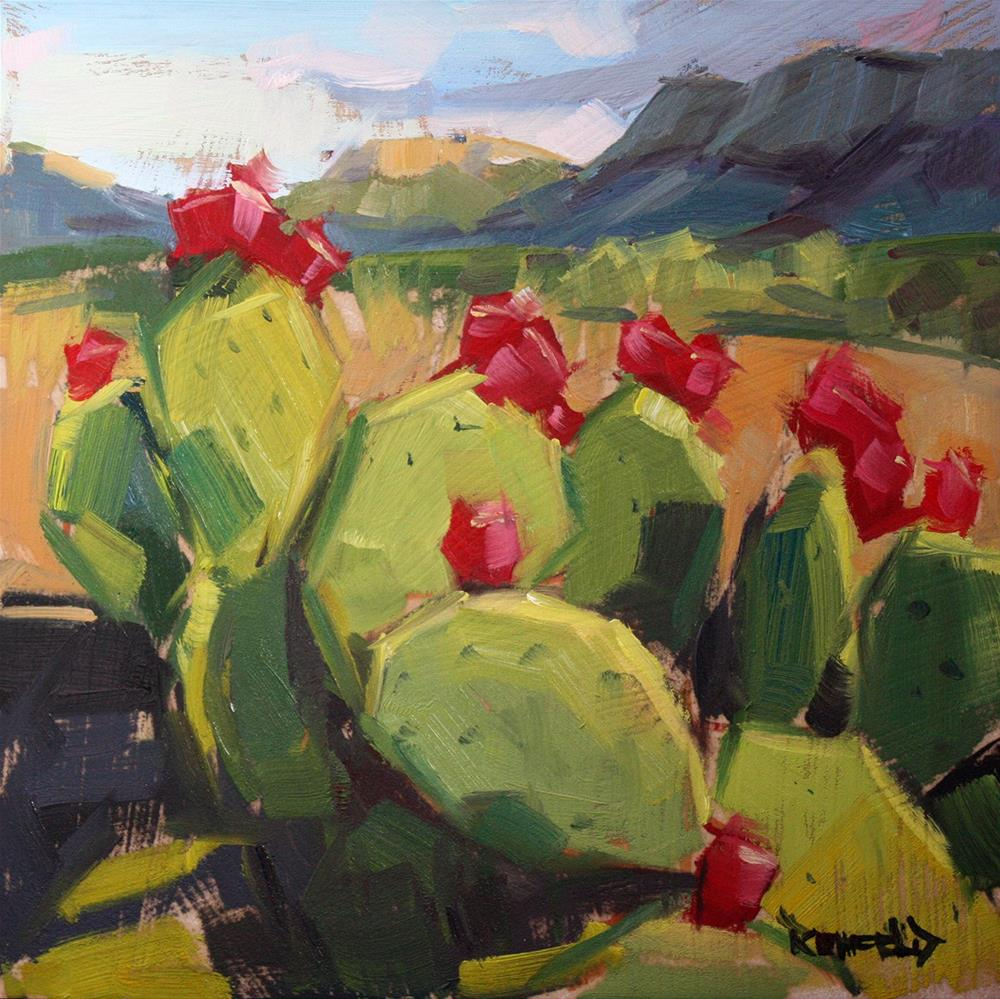 """Prickly Pear in Big Bend"" original fine art by Cathleen Rehfeld"
