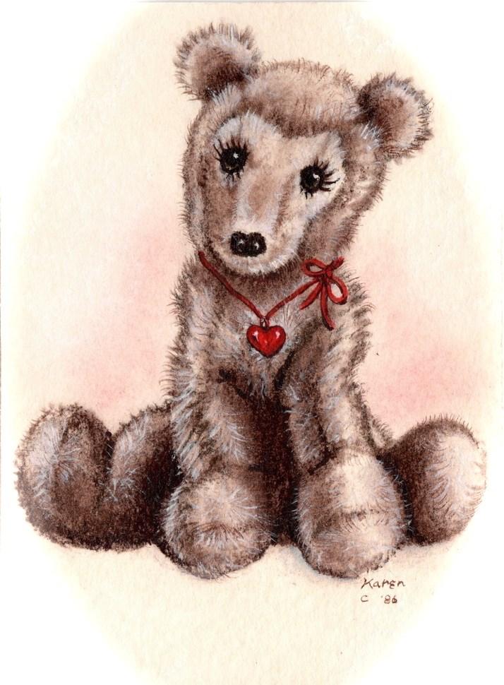 """""""Love Bear"""" original fine art by Karen Roncari"""