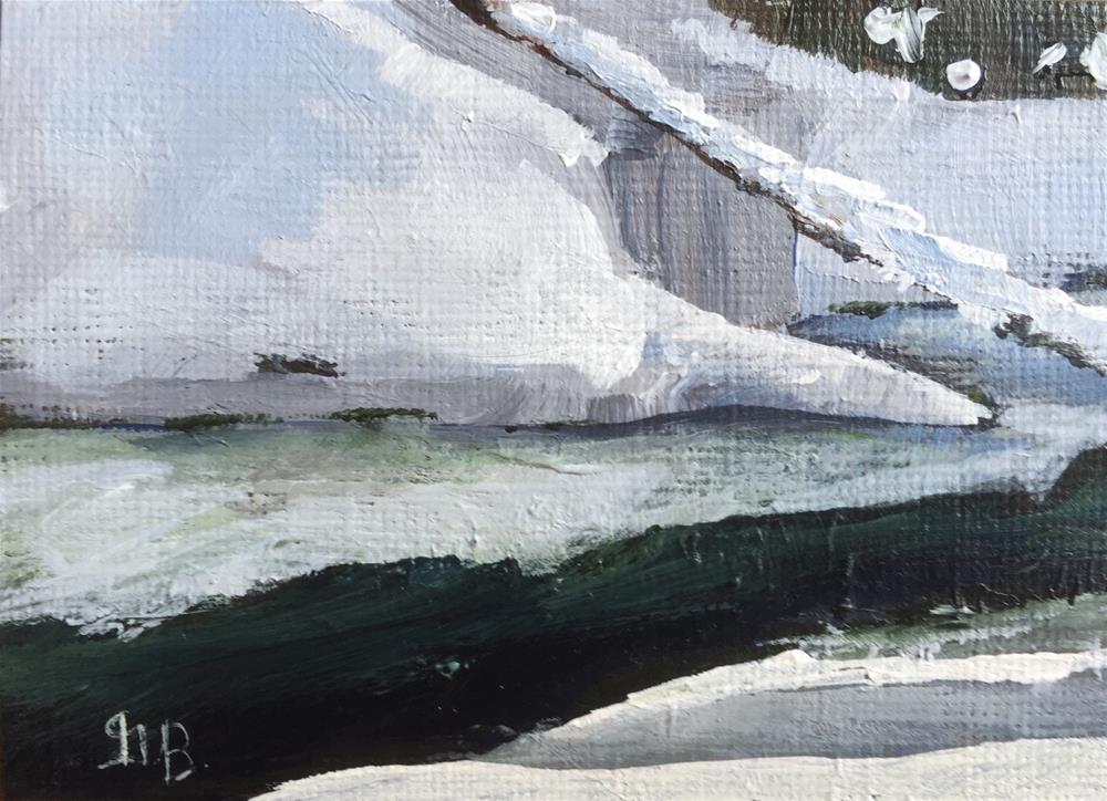 """Cold Stream"" original fine art by Gary Bruton"