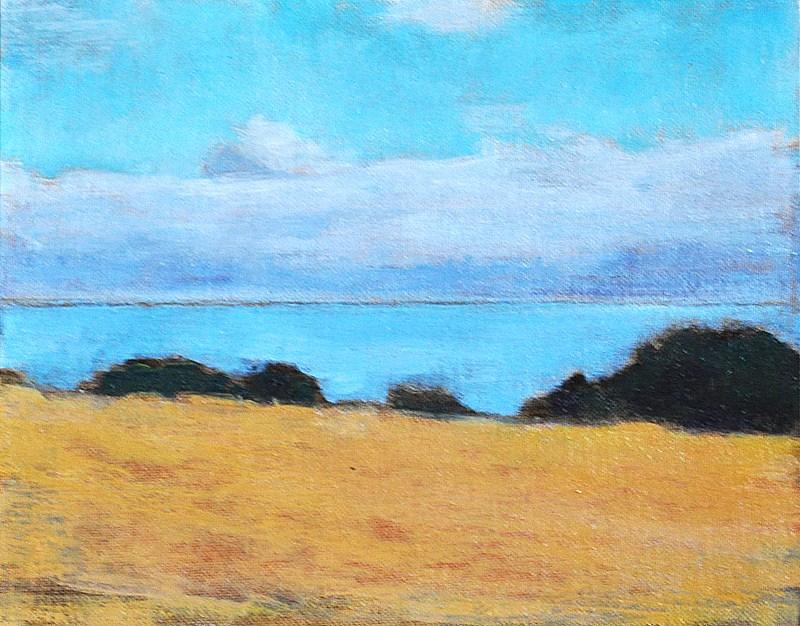 """Encinitas California Seascape"" original fine art by Kevin Inman"