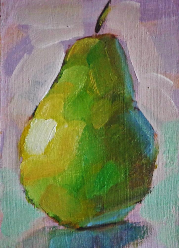"""Pear"" original fine art by Maria Z."
