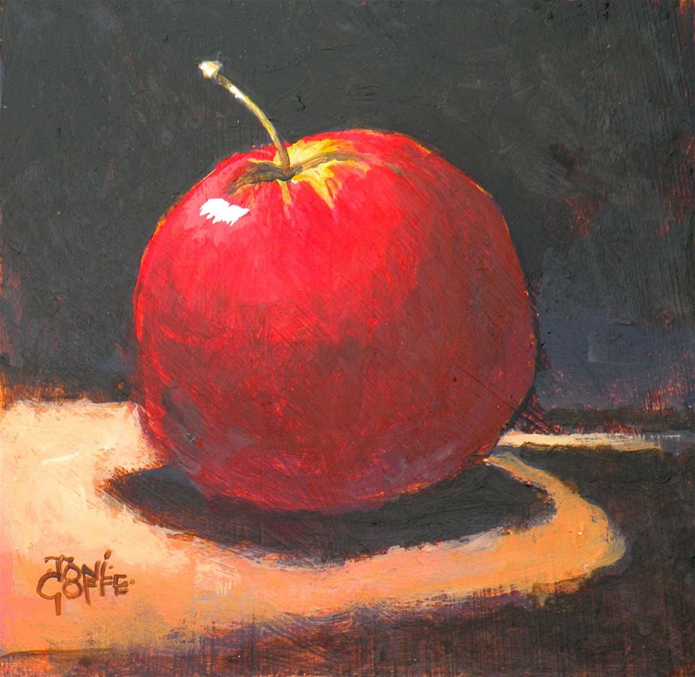"""moody Apple"" original fine art by Toni Goffe"