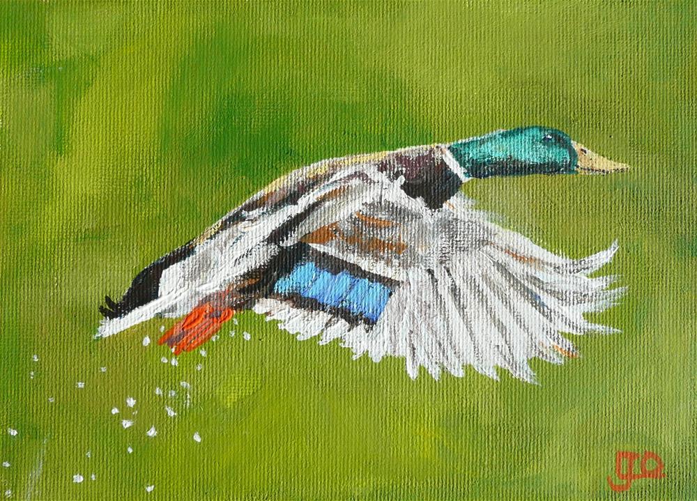 """Just After Take Off"" original fine art by Leanne Owen"