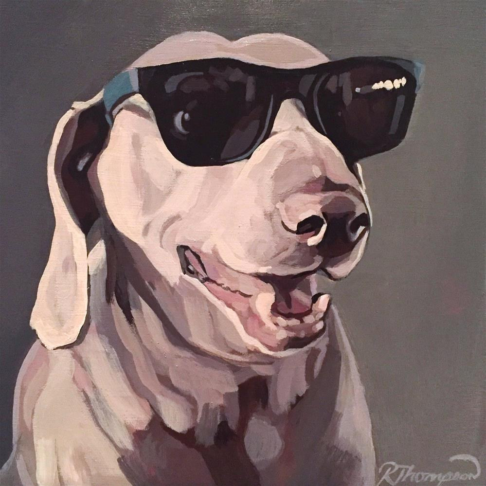 """Winston #2"" original fine art by Rachel Thompson"