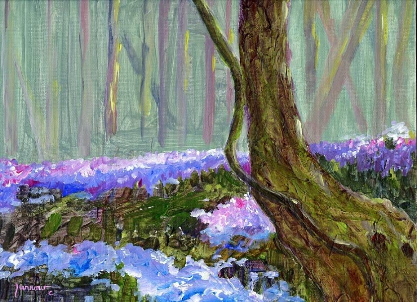 """""""Memory Painting from Green Hill"""" original fine art by Sue Furrow"""