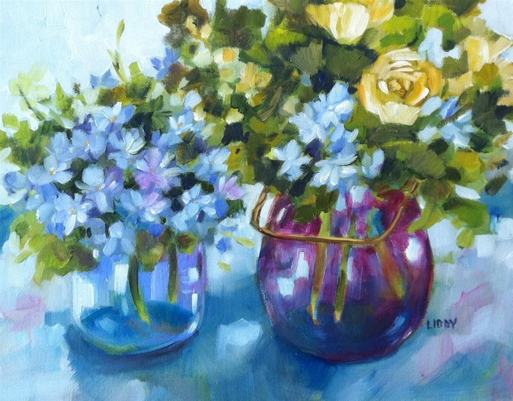 """Victorian Blue"" original fine art by Libby Anderson"
