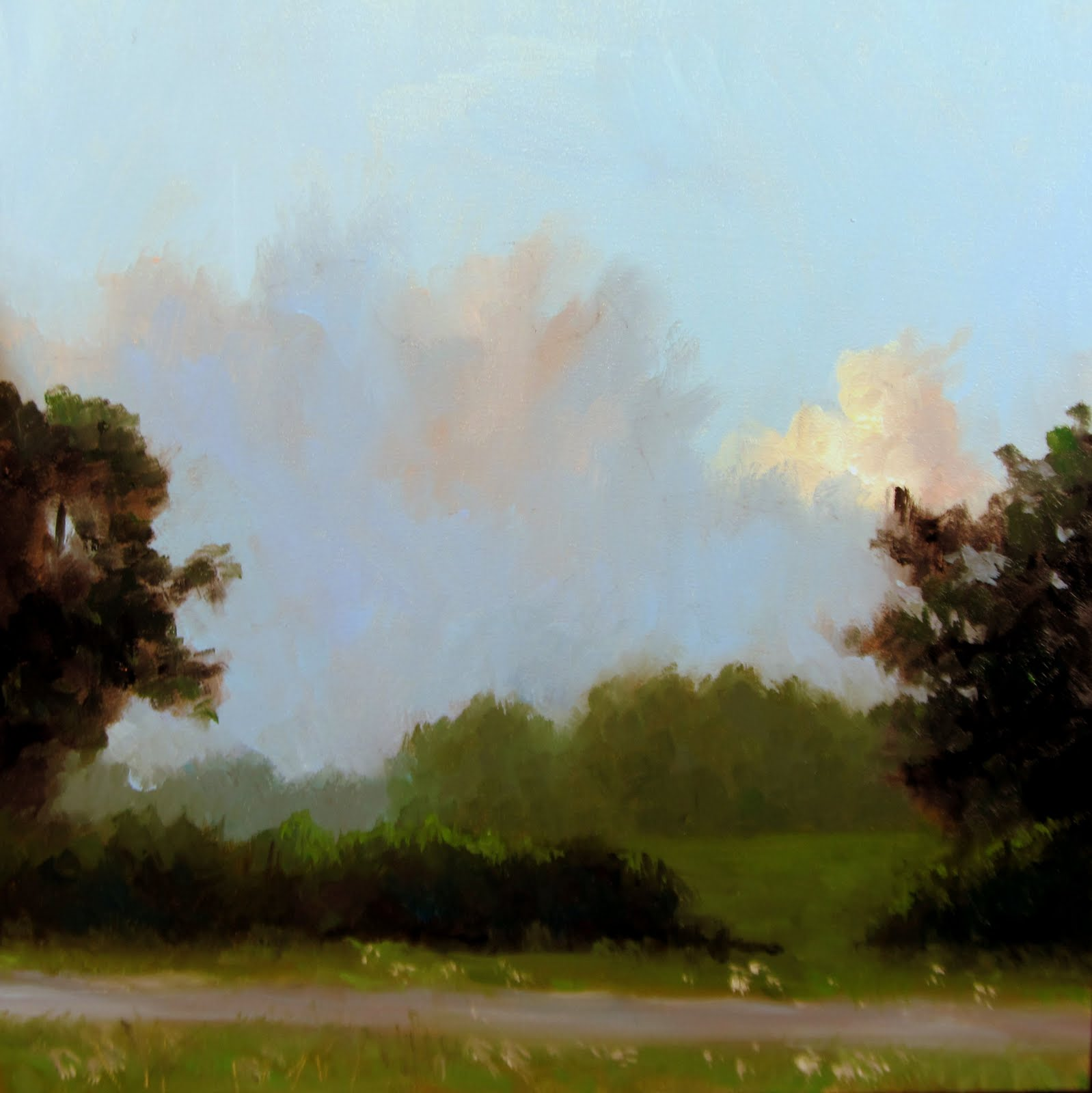 """""""ART 4 DIAPERS (DAILY DIAPER #184) Majestic Sky"""" original fine art by Brian Burt"""
