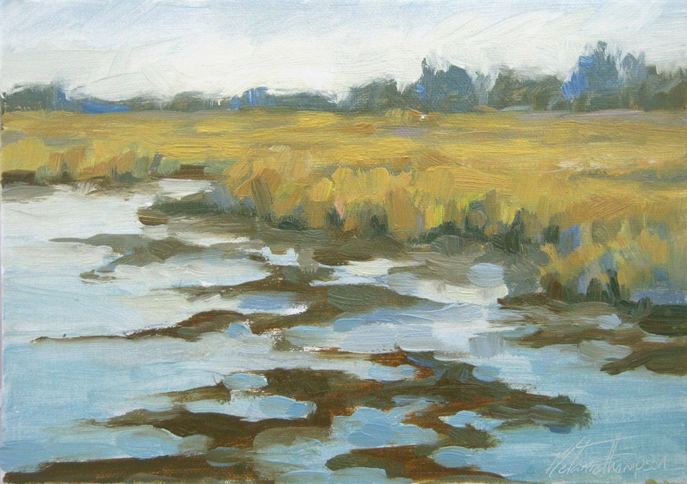 """Tidal Marsh"" original fine art by Melanie Thompson"