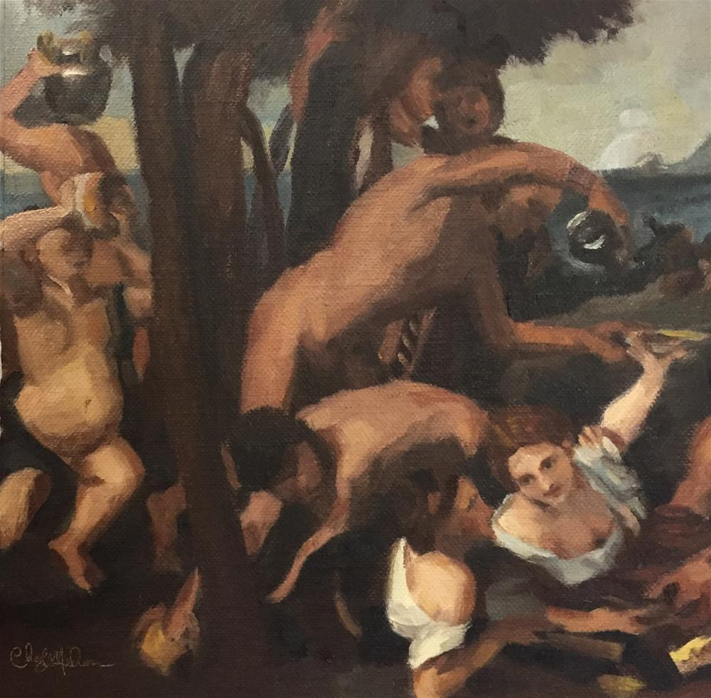 """The Bacchanal of the Adrians After Titian"" original fine art by Cheryl Meehan"