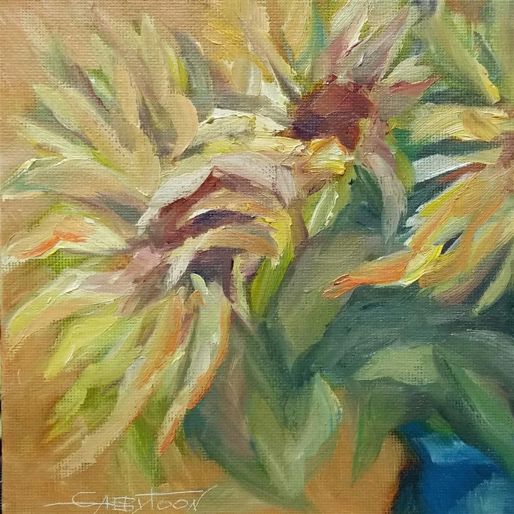 """Sunflowers"" original fine art by Gabriella DeLamater"
