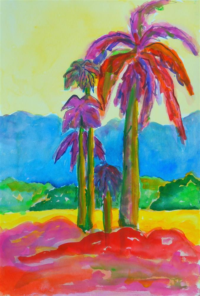 """EXTREME TROPICS"" original fine art by Mary Ellen Koser"