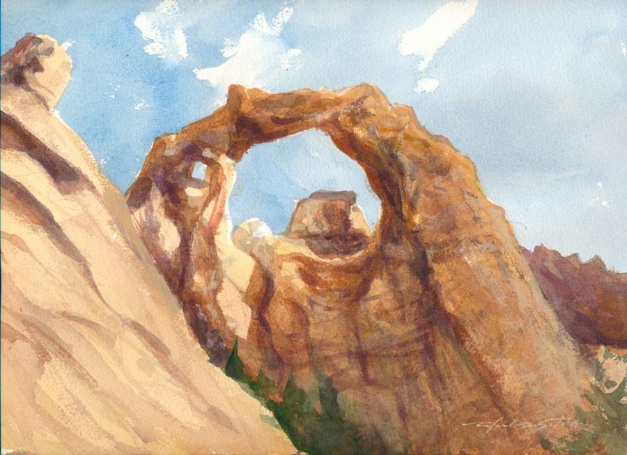 """Utah Arch Study"" original fine art by Rafael DeSoto Jr."