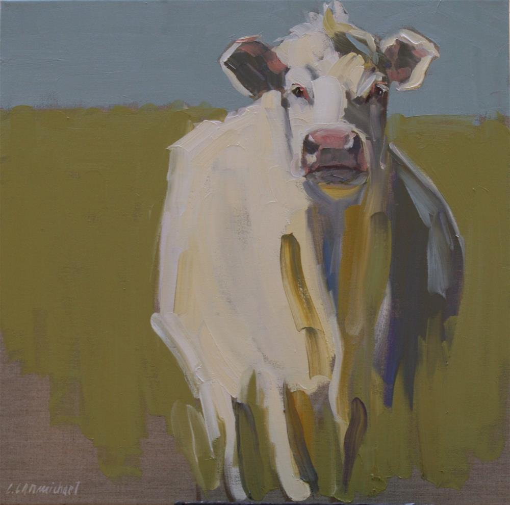 """hey cow"" original fine art by Carol Carmichael"