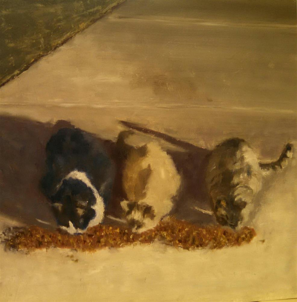 """Tres Gatos"" original fine art by Cheri Sperl"