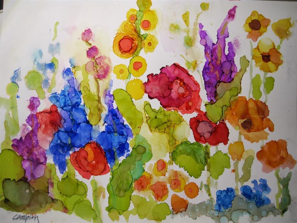 """""""309. Garden 4"""" original fine art by Diane Campion"""