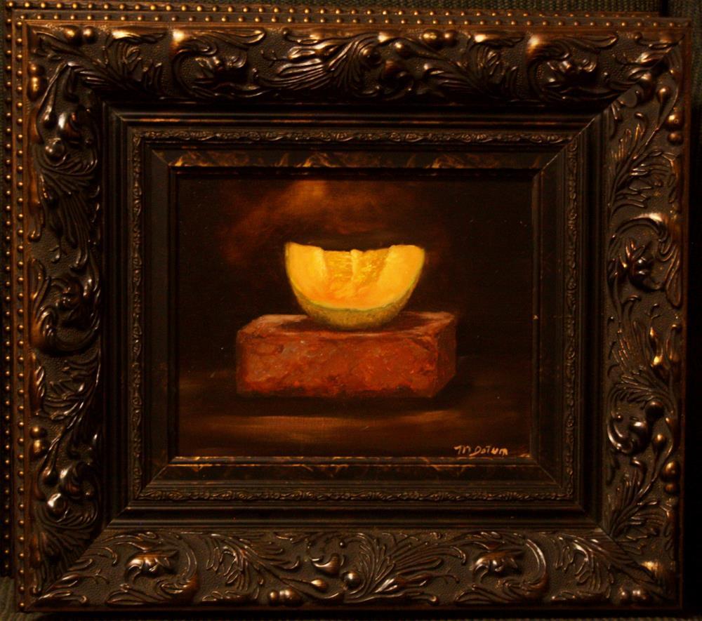 """Cantaloupe on Brick"" original fine art by Mary Datum"