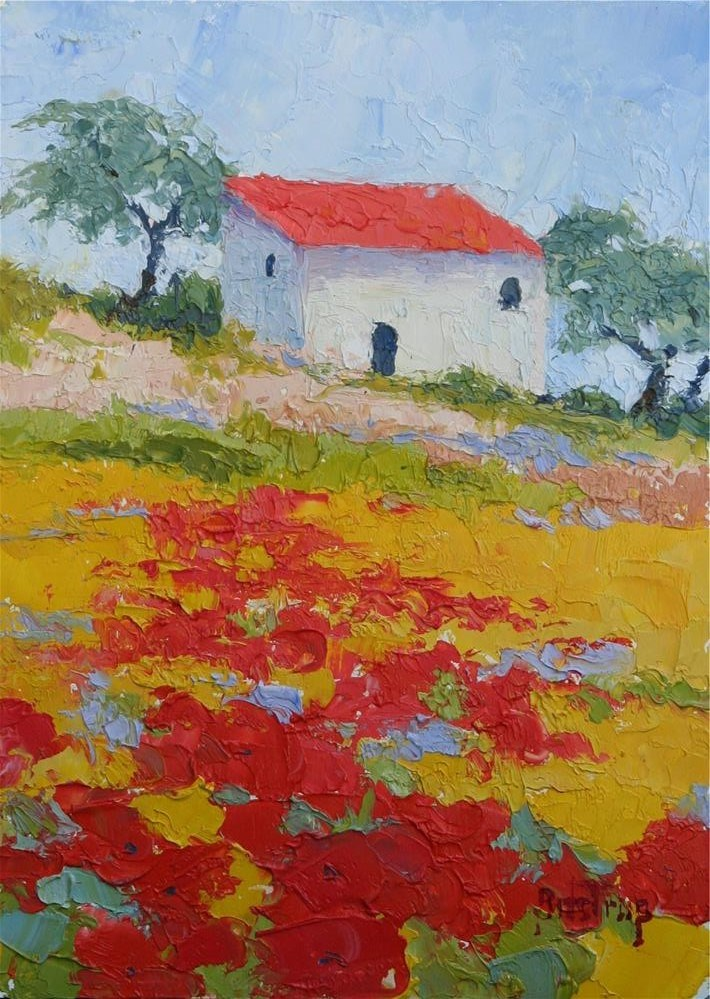 """Hillside in Provence"" original fine art by Mark Bidstrup"