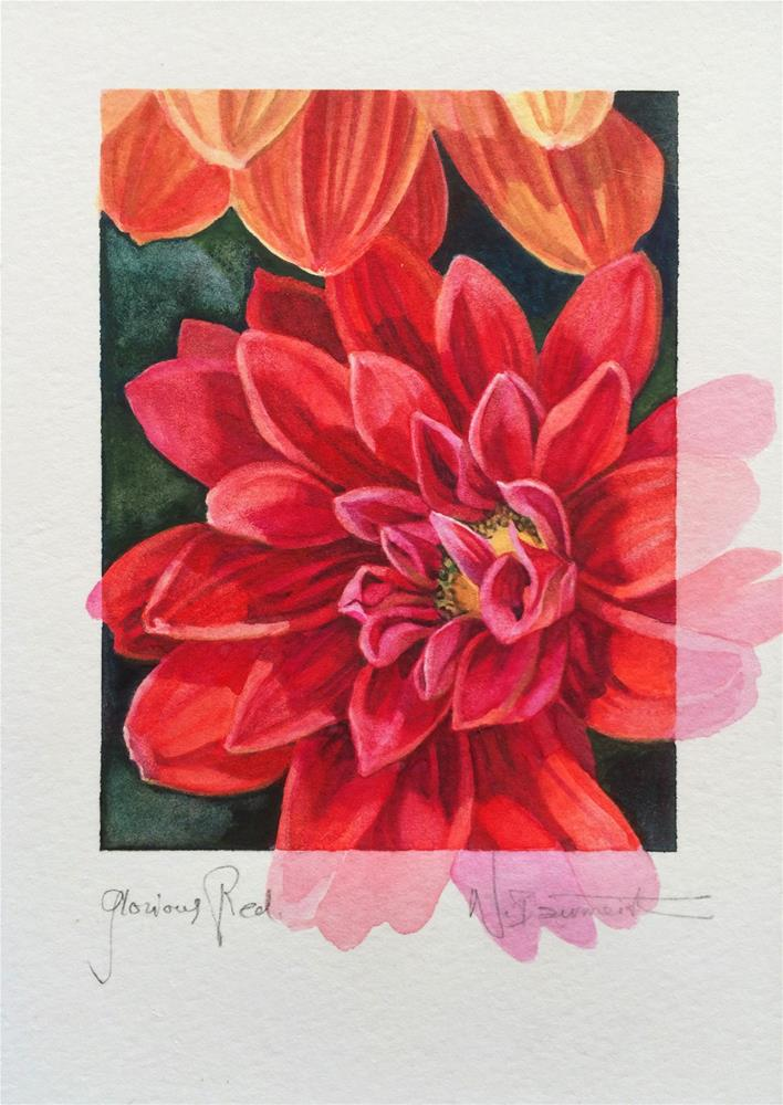 """2017  Glorious Red"" original fine art by Nicoletta Baumeister"
