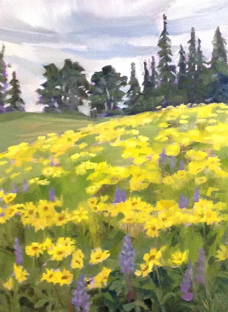 """""""Singing in the Rain II"""" original fine art by Valerie Orlemann"""