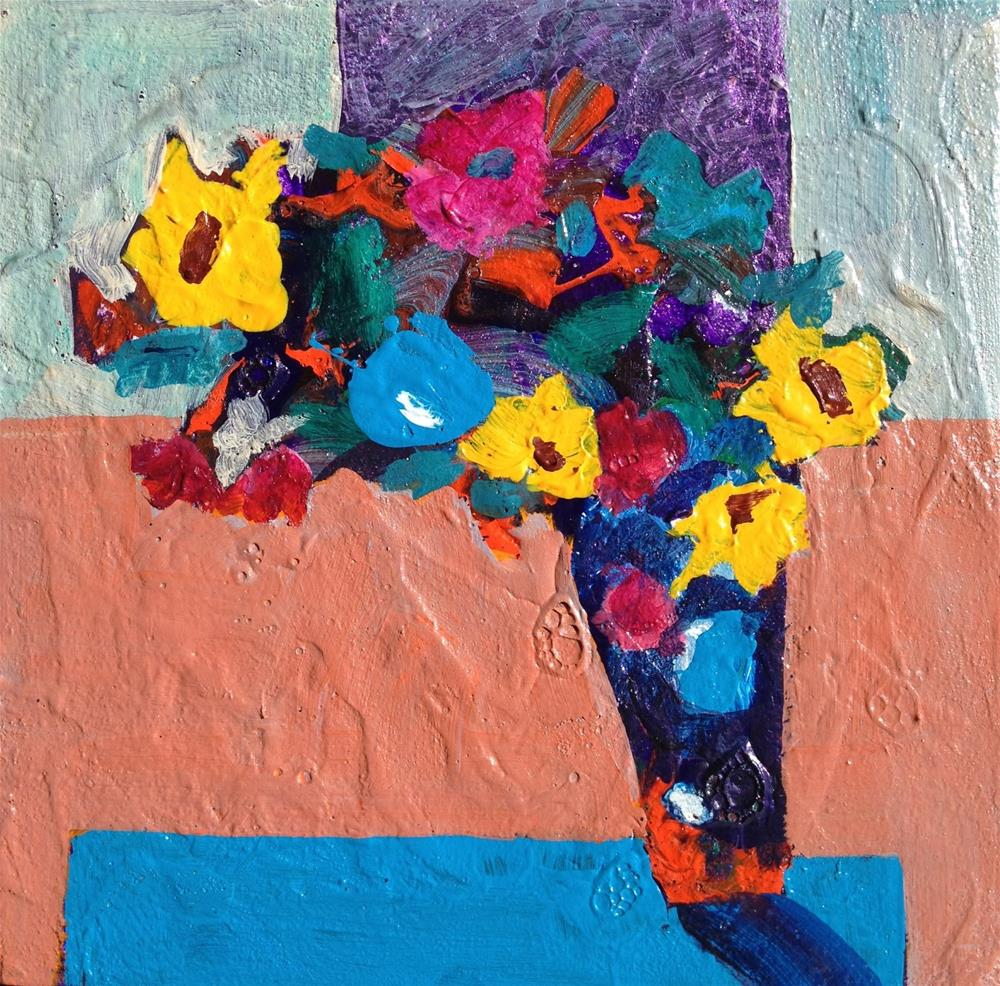 """Bouquet #1, 6 x 6"" original fine art by Ceci Lam"