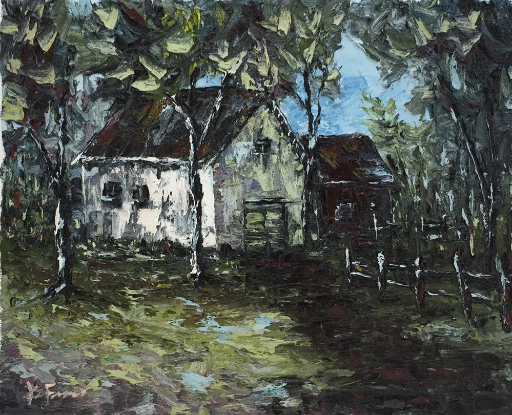 """Country Barn"" original fine art by Ken Fraser"