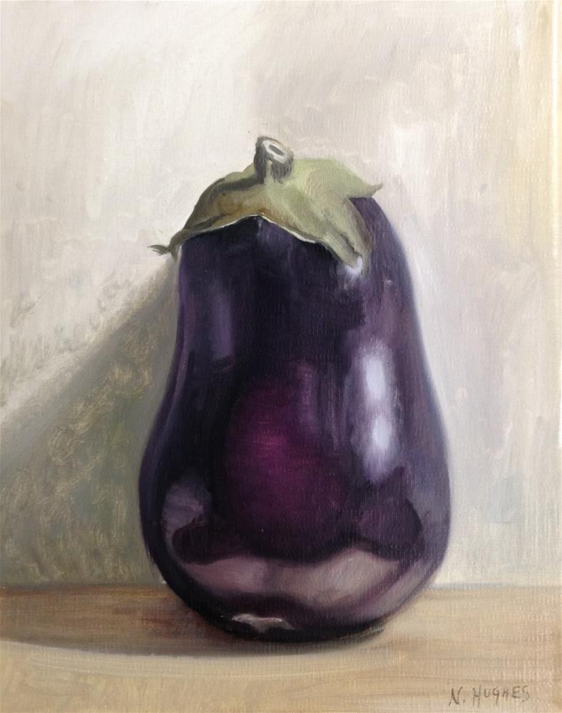 """Rotund Aubergine"" original fine art by Naomi Hughes"