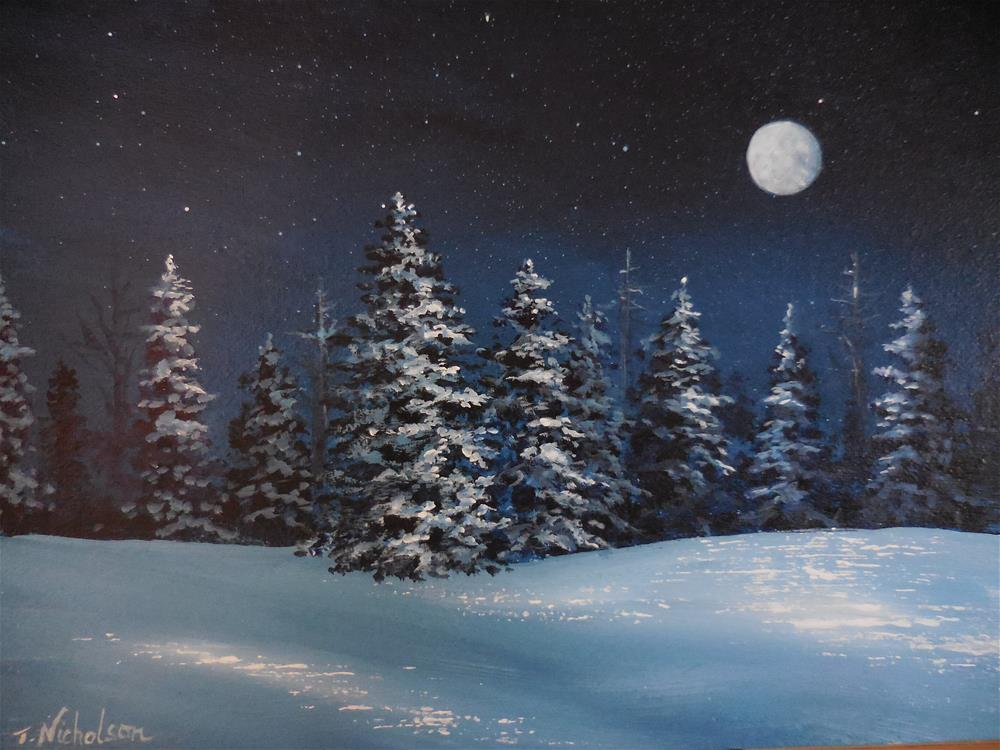 """Cold Winter"" original fine art by Terri Nicholson"