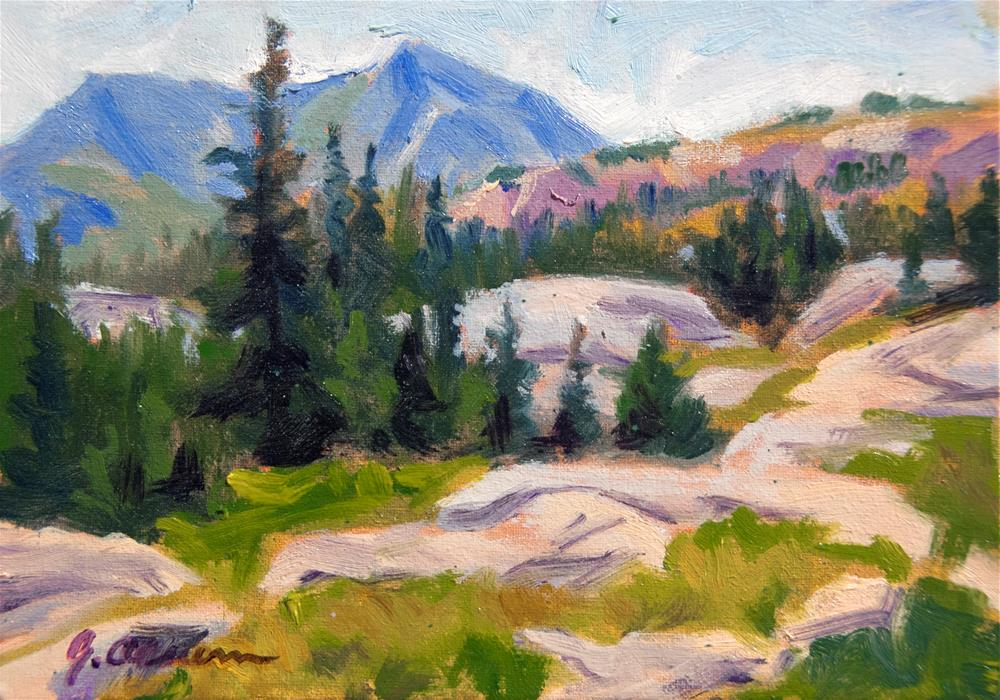 """Above Lion Lake #1"" original fine art by Gary Alsum"
