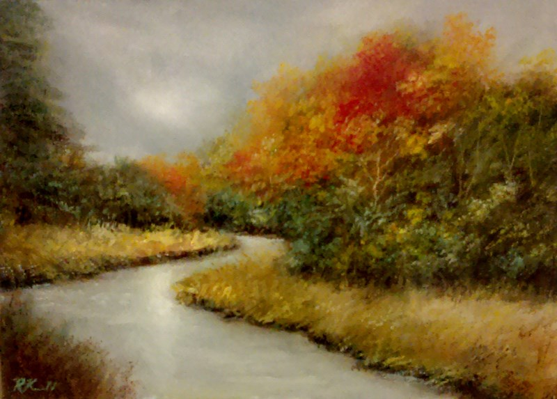 """Winding River"" original fine art by Bob Kimball"