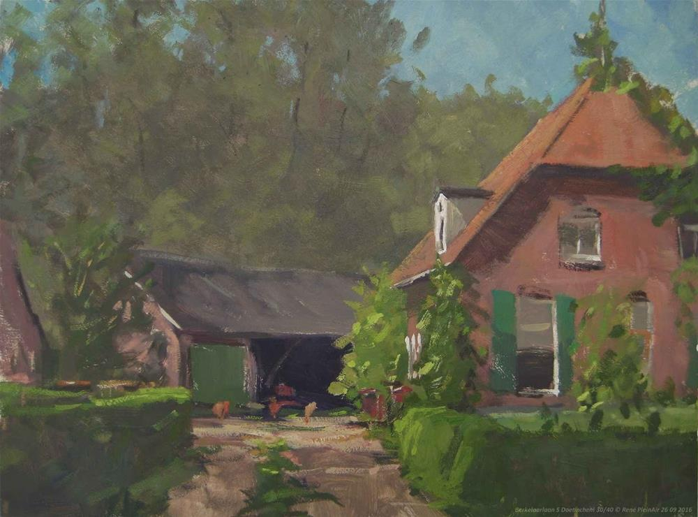 """Berkelaarlaan 5.  Doetinchem, The Netherlands."" original fine art by René PleinAir"