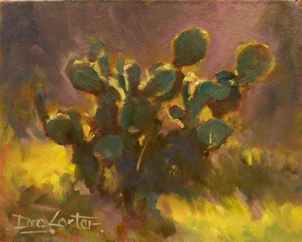""" Shadow Cactus "" original fine art by Doug Carter"