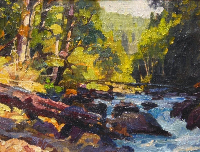 """Sol Duc River Afternoon  plein air, landscape, oil painting by Robin Weiss"" original fine art by Robin Weiss"