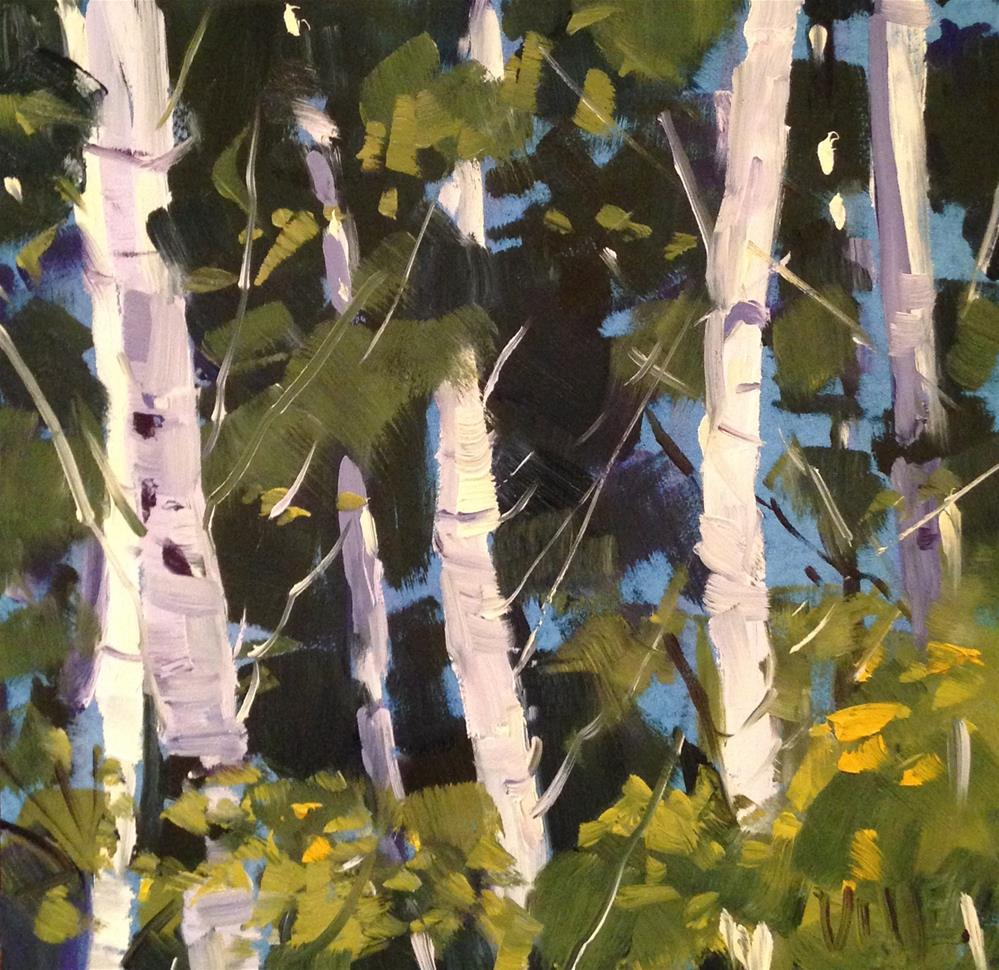 """187 Dog Park Birch"" original fine art by Patty Voje"