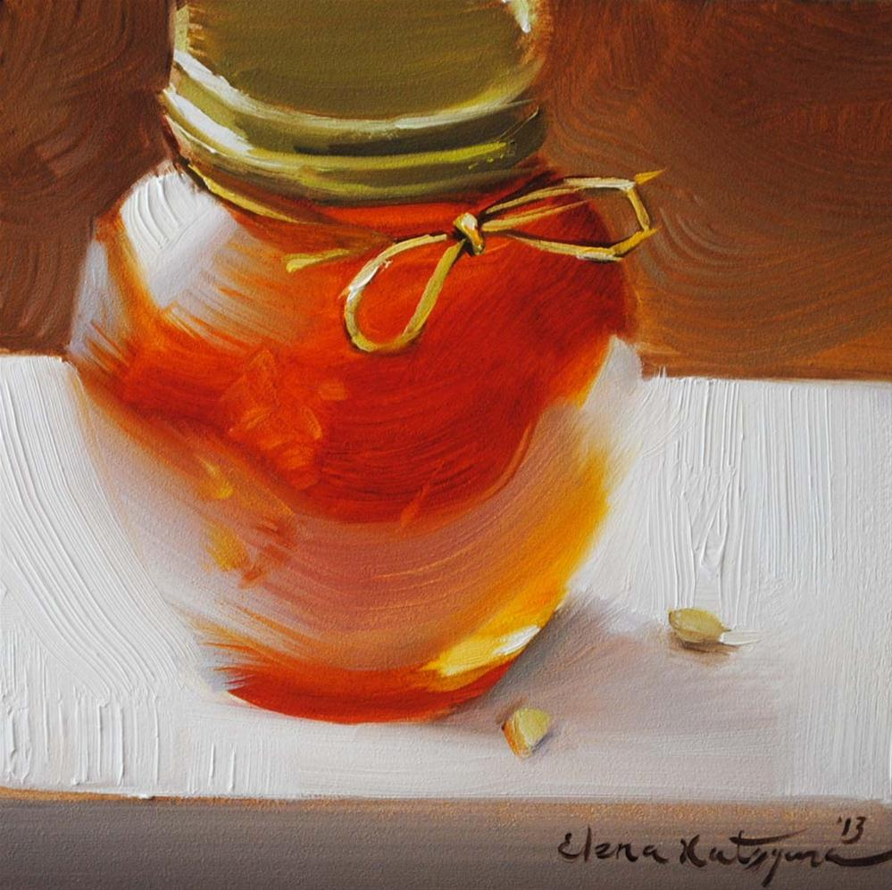 """""""Jar of Honey"""" original fine art by Elena Katsyura"""
