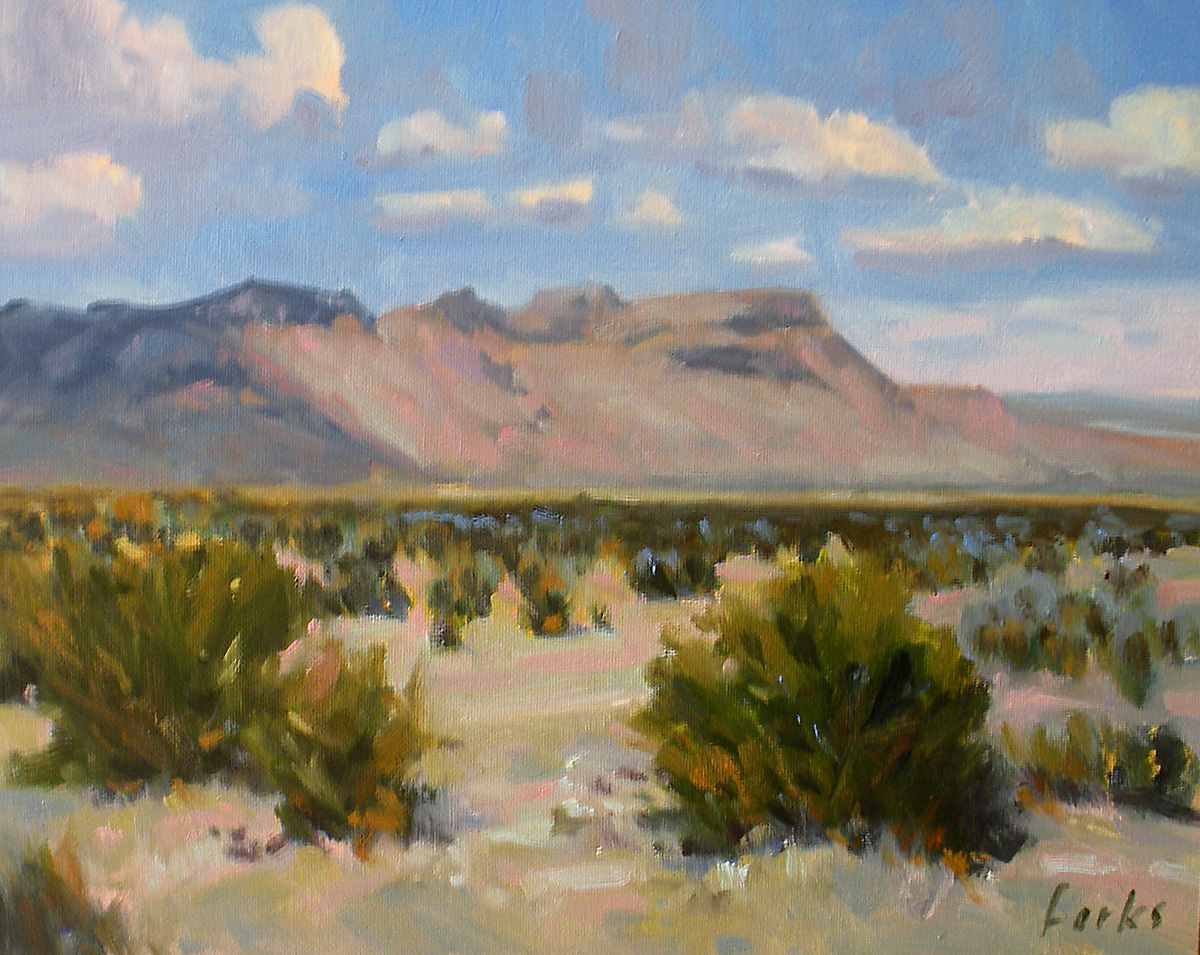 """Distant Mountain"" original fine art by David Forks"