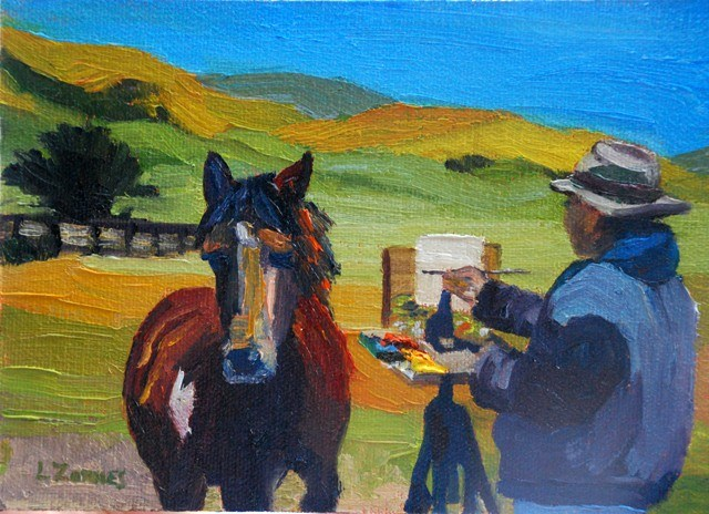 """Tim and Friend"" original fine art by Liz Zornes"