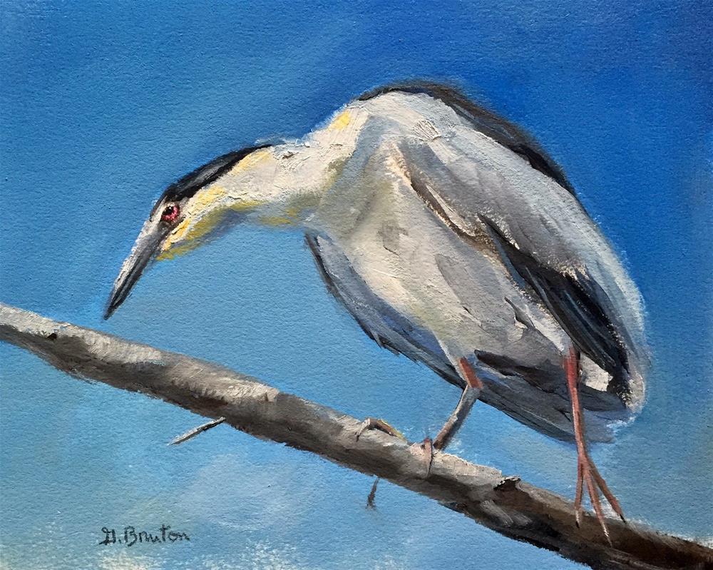 """Heron"" original fine art by Gary Bruton"