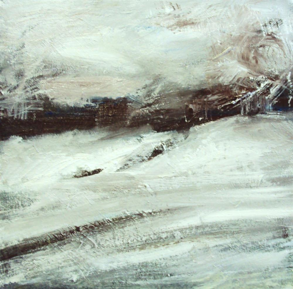 """Snow covered landscape"" original fine art by Parastoo Ganjei"