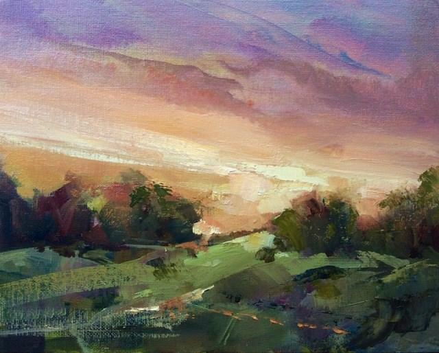 """Dawn Breaking"" original fine art by Anne Wood"