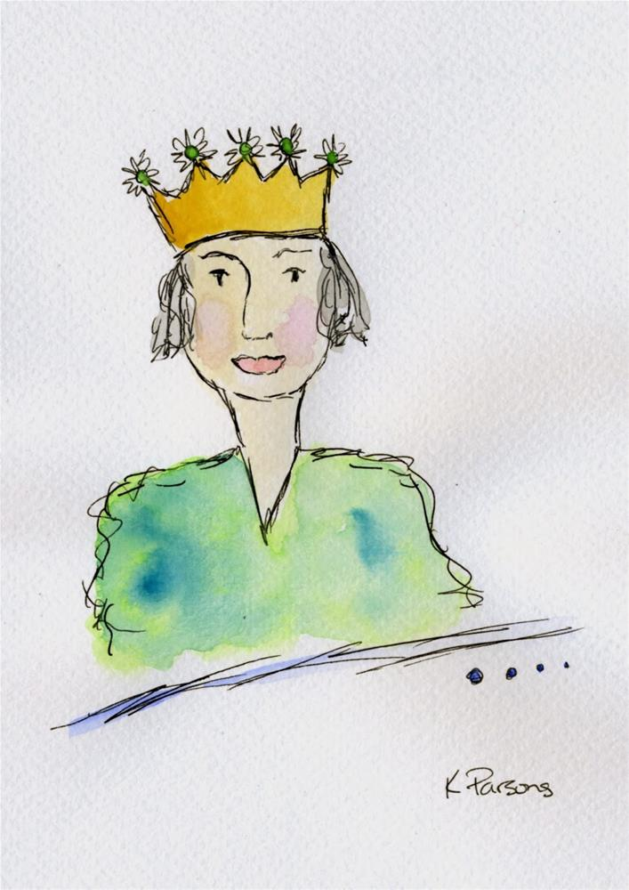 """The Queen"" original fine art by Kali Parsons"